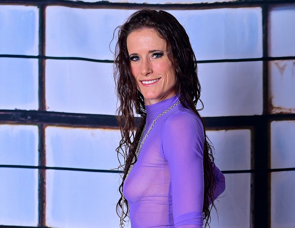 SofieMarieXXX/Purple Sheer Dress